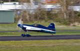 Testing the Canon 5D panning a moving airplane