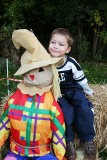 This scarecrow's not so scary