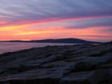 Sunsets Behind Cadillac Mountain