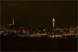 Space Needle and the Seattle Skyline at Night