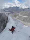 Gaz on the final 15m below the summit