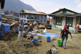 At work in Lukla