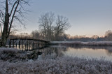 Frosty morning at the Old North bridge