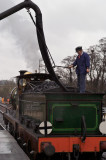 Topping up the water on SER Stirling 0-6-0 No.65