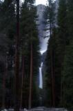 Yosemite falls at twilight