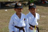 Young Karate Students w/Caps :-)