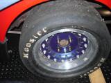 New wheel studs installed