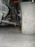Control arm angle: coilover bottomed out....