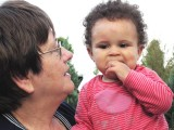 my sister Josette with Stella