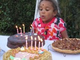 blowing the candles