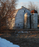 First Light On White Barn