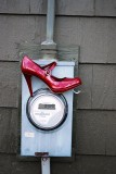 Red Shoe On Meter