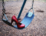 Red Shoe Swingset