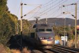 A TGV Sud-Est near Saint-Raphaël.