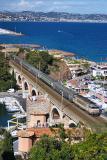 At Théoule-sur-Mer near Cannes, The BB22359 on the La Rague bridge.