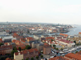 Looking over the city of Copenhagen.