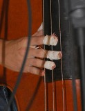 Clayton's bloody fingers and strings, from 2 days of Bluegrass Bass pickin!  Gota lov it!!