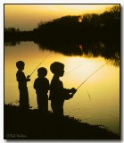 Our Three Sons Fishing On The Erie Canal