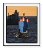 Sailing Into Oswego Harbor