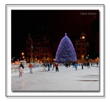 Skating In The Evening At Clinton Square Under A Christmas Tree's New Lighting