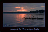 Another Fabulous Sunset At Onondaga Lake