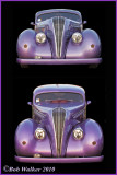 A Purple Chrysler With Two  Differnt Views
