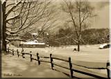 A Wintery Country Farm Scene