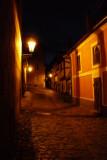 Golden Lane at Prague Castle ..