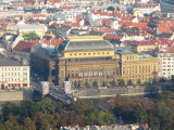 View of Lookout Tower on Petrin ..National Theatre ..