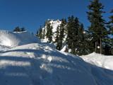 Snowshoe Tracks Near Ridgeline