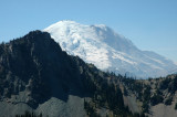Rainier Peeking/Peaking Over Ridgeline