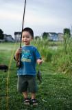 Hayden's first fish ever