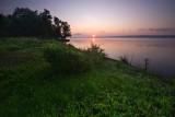 Summer river sunrise