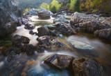 Rocks and running water