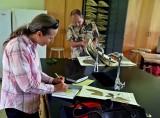 Dr. Amy Eisenberg and Professor Dana Lee Ling identifying plants.  IMG_0872.jpg
