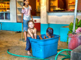 Early evening bath. Kolonia, Pohnpei. 2010