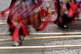 Nanhua Village Bamboo Dance during Naox Niex, the Hmong New Year in Guizhou Province, China