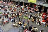 Outside market downtown Jishou City.