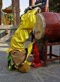 Miao Drum King during ceremony, Dehang Village, China