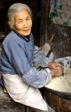 Making dough. Wangcun Village, Hunan Province, China.