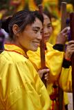Pan Zhai new year celebration. Martial arts demonstration, Guizhou Province, China