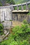 Hydroelectric dam in the canyon below the village.