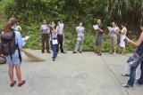 Reading United Nations Environmental Sabbath Programme prayer.