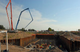Headworks Floor 9/3/090-Placed 1,823 cubic yards (188 truck loads) of concrete in 11 hours.