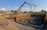 Headworks Floor  9/3/09--Placed 1,823 cubic yards(188 truck loads) of concrete in 11 hours.