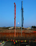 Headworks Floor 9/3/09-Places 1,823 cubic yards(188 truck loads) of concrete in 11 hours
