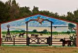 A barn mural near Maxdale, TX