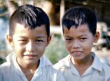 Portrait of two Vietnamese citizens