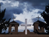The crosses at nightfall