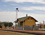 The Bertram, TX train depot.Narrow gauge railroad completed in 1882  Converted to standard gauge in 1902..